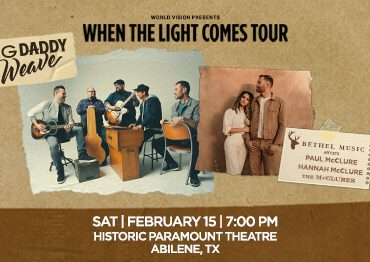 """Big Daddy Weave """"When the Light Comes"""" Tour"""